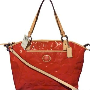 💐COACH F20028 💐 PEYTON EMBOSSED PATENT LEATHER